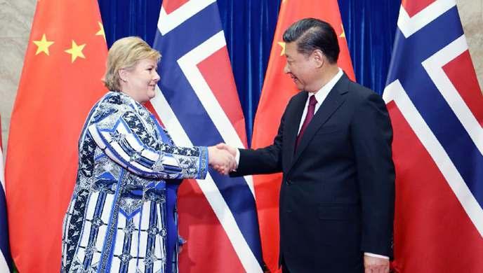 President Xi meets Norwegian PM to enhance mutual trust