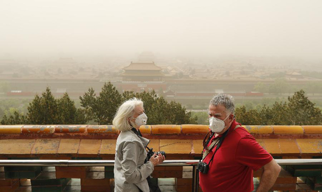 Sandstorms sweep through northern China