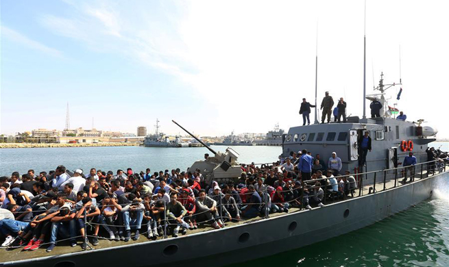 Libyan navy rescues more than 300 migrants off coast of Sabratha