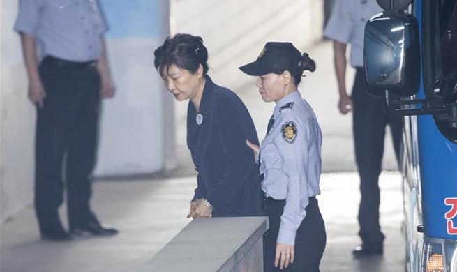 S. Korea's former president arrives for trial at court in Seoul