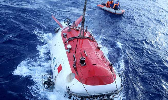 Jiaolong finishes final dive in 38th oceanic scientific expedition