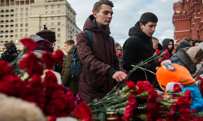 Putin declares national mourning for shopping mall fire victims