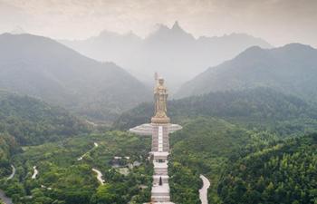Aerial photos of Mount Jiuhua in China's Anhui