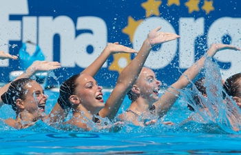 Russia wins team technical final of synchronized swimming