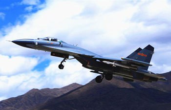 China air force stages real combat training