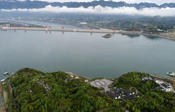 Scenery of Three-Gorges Dam in central China's Hubei
