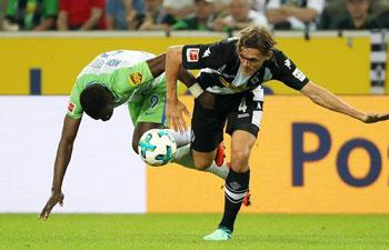 Monchengladbach down Wolfsburg 3-0 in German Bundesliga
