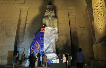 Colossal statue of King Ramses II unveiled at Luxor Temple in Egypt