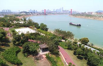 Scenery along Yongjiang River in Nanning, south China's Guangxi