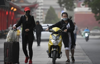 Strong wind, dust hit NW China's Ningxia