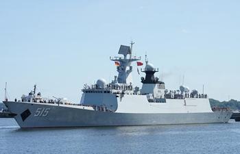"Chinese frigate ""Binzhou"" visits military port of Kiel in Germany"