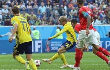 Forsberg strike sends Sweden into last 8