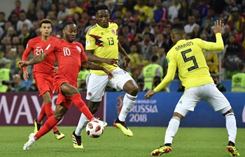 England beat Colombia 4-3 on penalties to reach World Cup quarterfinals