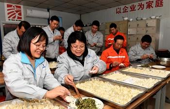 Chinese people greet Dongzhi by eating dumplings