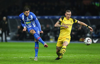 German Bundesliga: Dortmund beats Hertha BSC 3-2