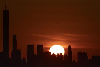 Sunset scenery in New York