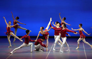 "Ballet ""Jewels"" staged at Tianqiao Theater in Beijing"