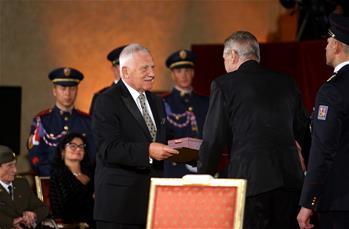 President of Czech Republic attends ceremony in Prague
