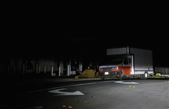 Residential area during blackout in San Francisco Bay Area, California