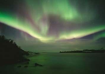 Amazing aurora borealis in northern Norway