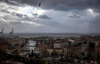 Stormy weather hits Rijeka, Croatia