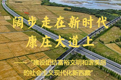 建設團結富裕文明和諧美麗的社會主義現代化新西藏