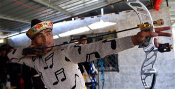 西藏林芝:射響箭 迎新年