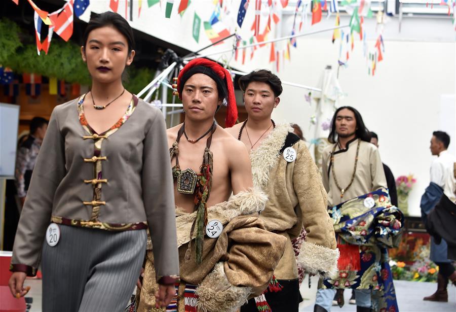 拉薩:藏族模特秀