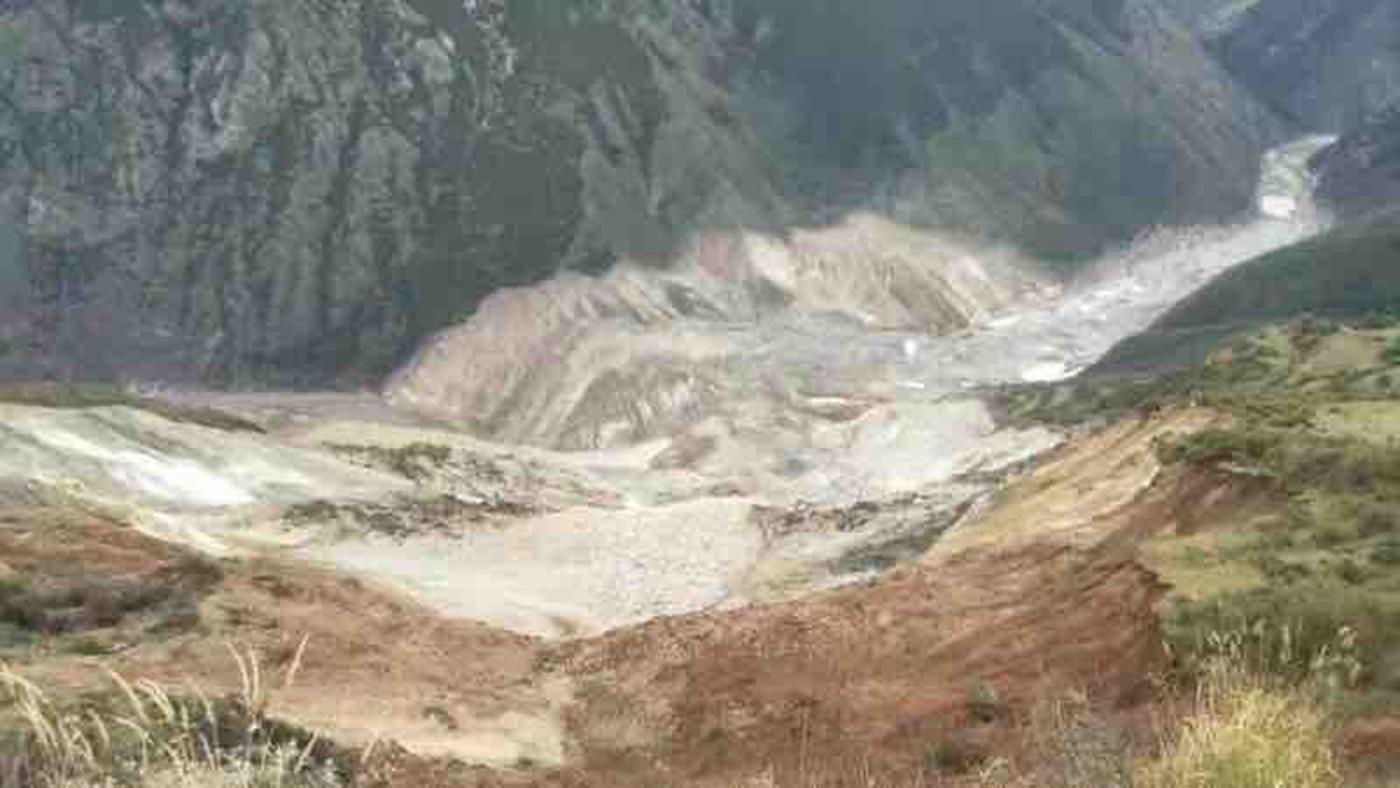 西藏昌都江達縣波羅鄉再次發生山體滑坡(圖)