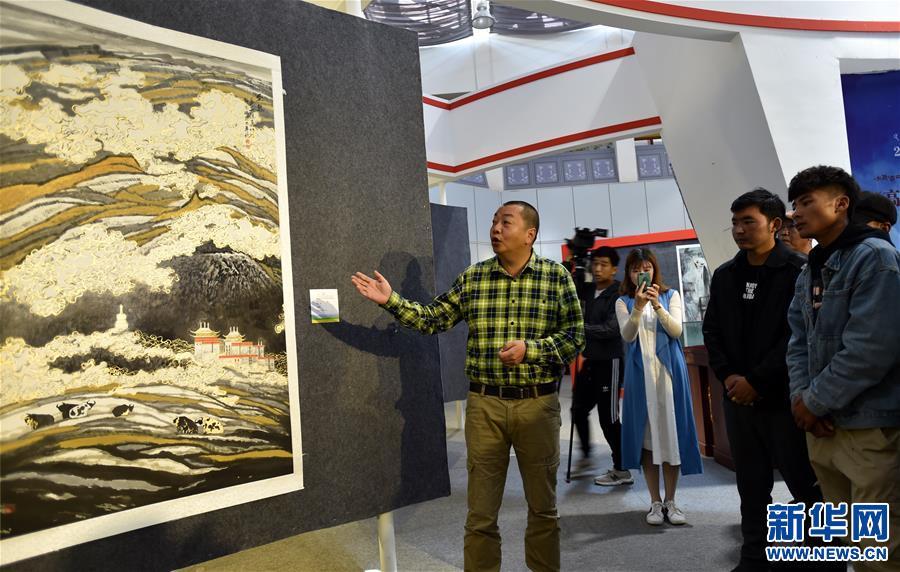 陜西美術博物館館藏國畫在拉薩展出(圖)