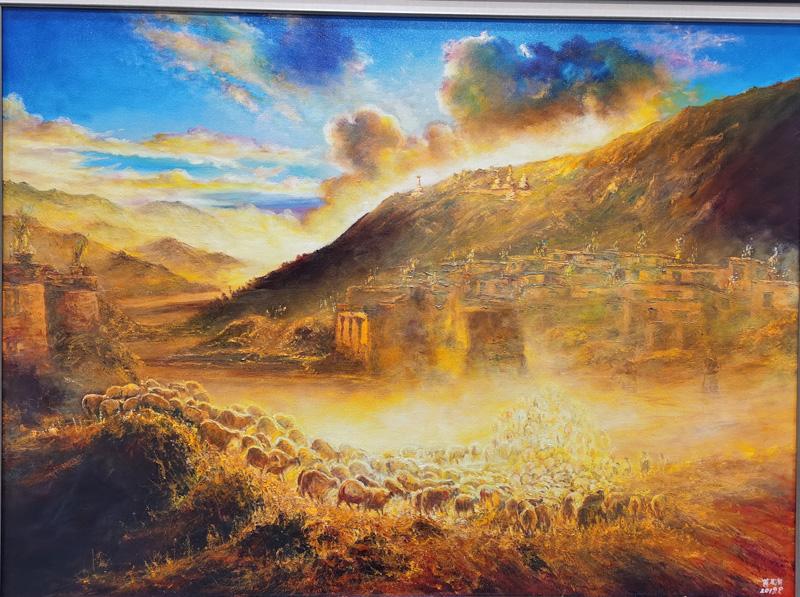 """""""雪域情——西藏中青年油畫家提名展""""在拉薩舉辦"""