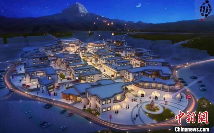 西藏阿裏國際旅遊小鎮推進建設中